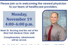 open house invitation for Dr. Bruning