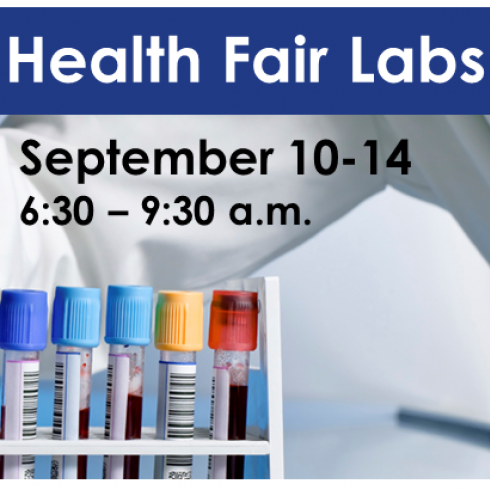 Health Fair Labs September 10-14