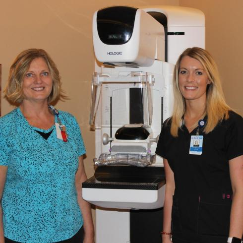 mammography staff at west holt medical services