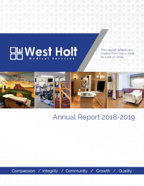 annual report cover west holt medical services