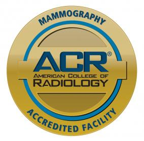 ACR Accredited gold seal mammography