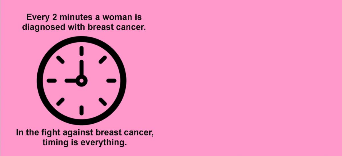 Mammogram ad promotion.